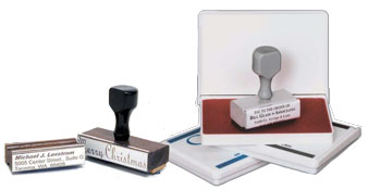Order your traditional custom rubber stamp customized with your text, logo or upload your own artwork. Great Pricing