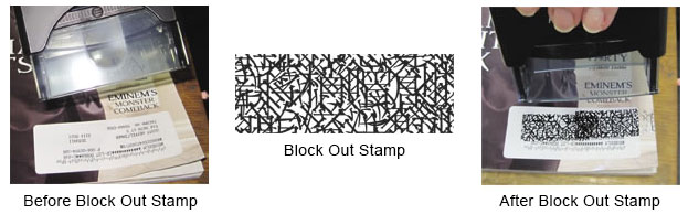 Identity Block Out Stamp