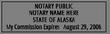AK-NOT-1 - Alaska Notary Stamp
