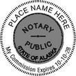 AK-NOT-RND - Alaska Notary Round Stamp