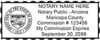 AZ-NOT-1 - Arizona Notary Stamp