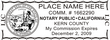 CA-NOT-1 - California Notary Stamp