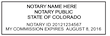 CO-NOT-1 - Colorado Notary Stamp