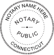 CT-NOT-RND-2 - Connecticut Notary Stamp Round WITHOUT Expiration Date