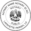 LA-NOT-RND - Louisiana Round Notary Stamp