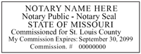 MO-NOT-1 - Missouri Notary Stamp with ID Number