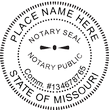 MO-NOT-RND-1 - Missouri Round Notary Stamp