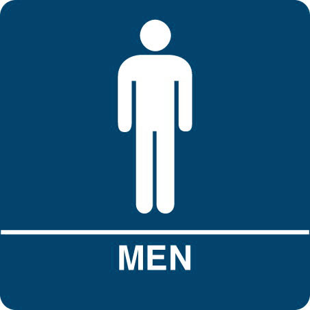 Kroy ADA Regulatory MEN Restroom Signs With Tactile Braille Durable