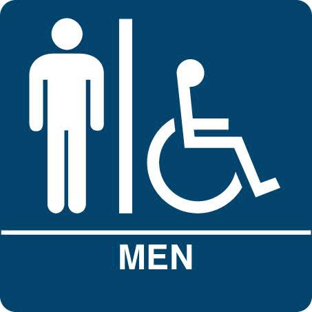 . ADA Regulatory MEN S RESTROOM signs with ISA  wheelchair symbol