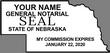 NE-NOT-2 - Nebraska Notary Stamp 2 - State Outline