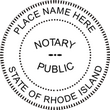 RI-NOT-RND - Rhode Island Round Notary Stamp