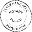 UT-NOT-RND - Utah Round Notary Stamp or Seal