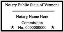 VT-NOT-1 - Vermont Notary Stamp