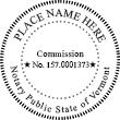VT-NOT-RND - Vermont Round Notary Stamp