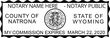 WY-NOT-1 - Wyoming Notary Stamp