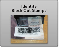 Protect your identity from thieves with a Block Out Stamp.